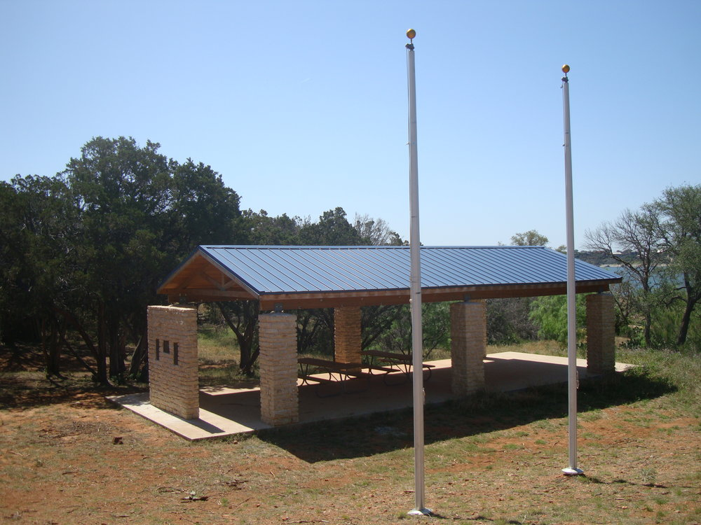 The Norm Meador Pavilion at Eagle Wing campsite.