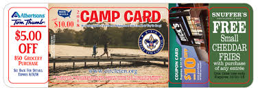 This is an image of a Camp Card from previous years.  It will likely be similar for 2019.