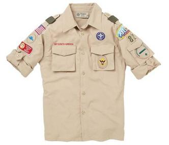 - Uniform shirt with proper patch placement. The only patches you need to buy are the circular purple patch (World Crest) and the Council strip (patch on left sleeve above the numerals). We provide the numeral strip and all other patches.