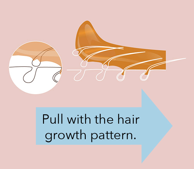 Fewer in-grown hairs with sugaring technique!