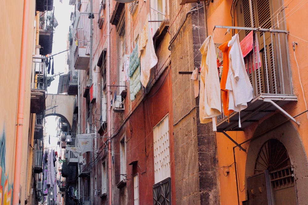 Alleyway off Via die Tribunali.