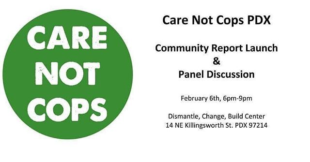 @carenotcopspdx is hosting this event at our space on Wednesday!