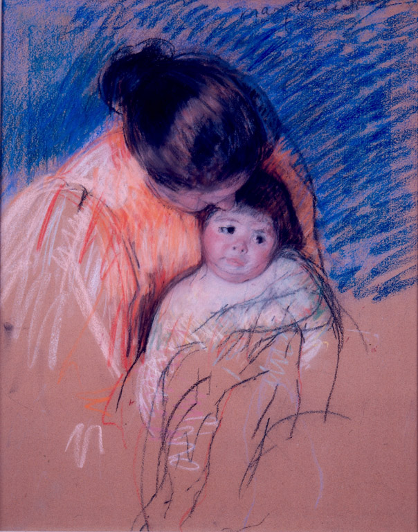 Sketch of a Mother Looking Down at Thomas,  Mary Cassatt, 1893