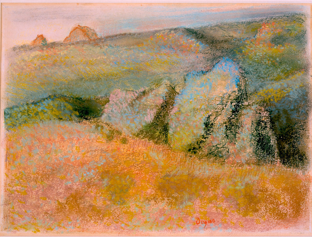 Landscape with Rocks,  Edgar Degas