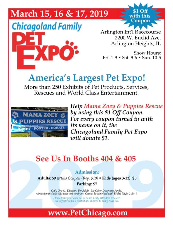 Chicagoland Pet Expo — Mama Zoey & Puppies Rescue