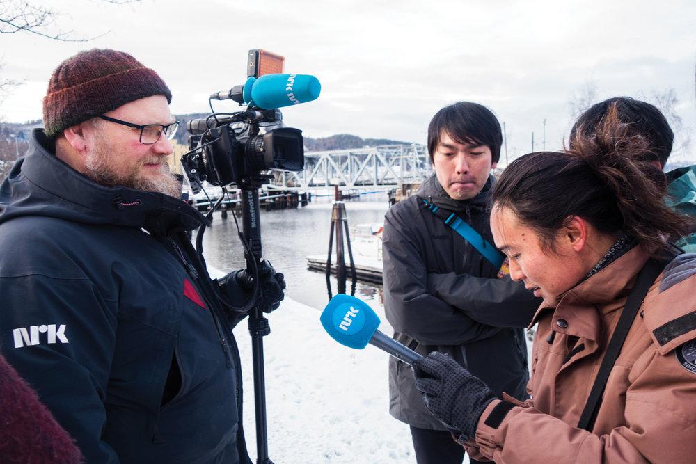 Japanese TV meeting Norwegian TV. ノルウェーのテレビと日本のテレビの出会い。