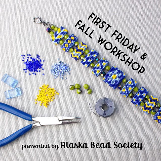 My next show is Oct 5-6 for First Friday here in Anchorage! Visit me in the upper atrium of the Anchorage Museum to shop for handmade beaded arts! October 5, from 6-9pm free admission October 6, from 10-6pm  There is also a beading workshop to make this Alaska Forget-Me-Not Bracelet. See https://www.anchoragemuseum.org/visit/calendar/ and click on October 6 for more info. Two sessions are offered and registration is required.  #beads #carrierbeads #forgetmenot #alaska #madeinalaska #beadingworkshop #learntobead #thingstodoinanchorage #anchorage #alaskabeadsociety #anchoragemuseum #peyotestitch #delicas #alaskajewelry #beadinspiration #firstfriday #fortheloveofbeads #anchoragemarket #beadarts #craftshow #wheninalaska #anchoragecommunity #newfanglednorth #beadwork