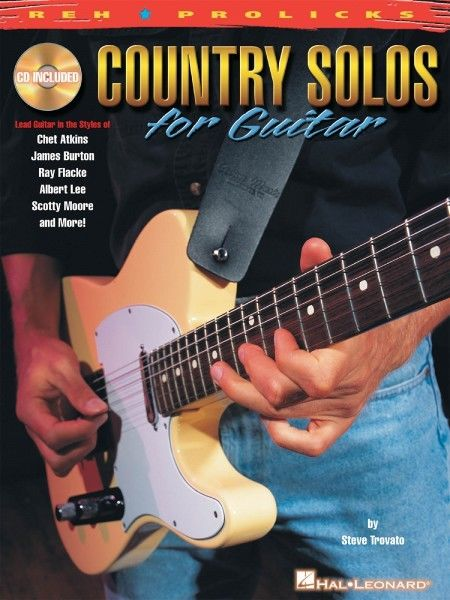 Country Solos for Guitar - This unique book with audio examples lets guitarists examine the solo styles of axe masters such as Chet Atkins, James Burton, Ray Flacke, Albert Lee, Scotty Moore, Roy Nichols, Jerry Reed and others. It covers techniques including hot banjo rolls, funky double stops, pedal-steel licks, open-string licks and more, in standard notation and tab with phrase-by-phrase performance notes. The audio files include full demonstrations and rhythm-only tracks.The audio is accessed online using the unique code inside each book and can be streamed or downloaded. The audio files include PLAYBACK+, a multi-functional audio player that allows you to slow down audio without changing pitch, set loop points, change keys, and pan left or right.