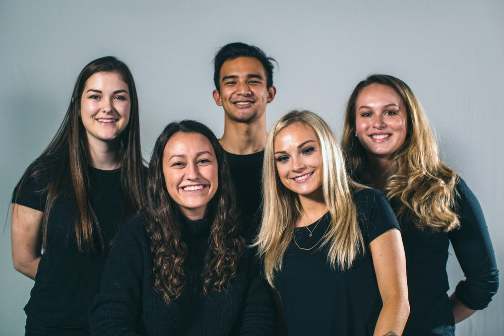 - UO Common Reading Account TeamTeam left to right: Molly Kempf, Production Assistant; Emma Wilcox, Producer; Michael Hampton, Editor; Riley Kolin, Videographer; Peyton Murry, Producer.