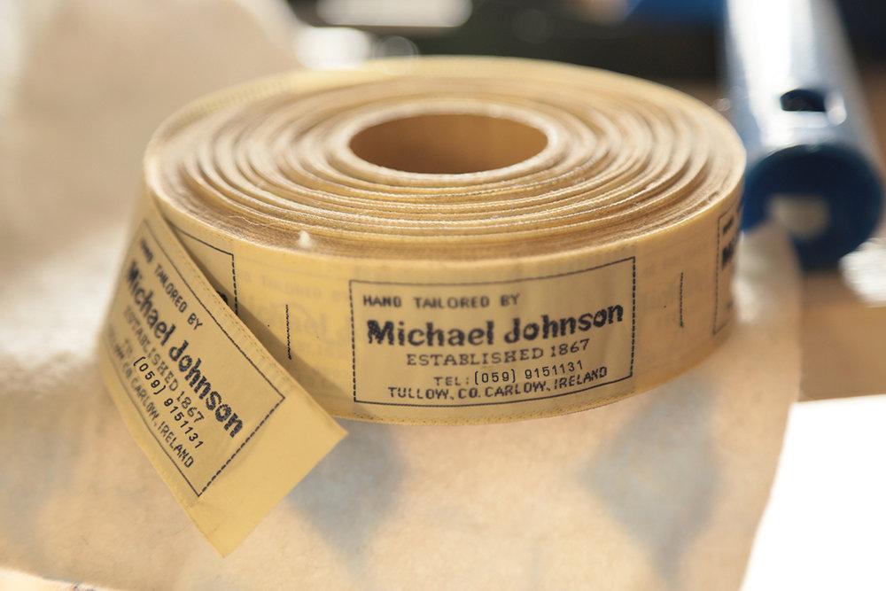 Michael Johnson Tailor Labels