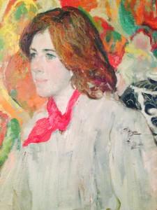 Portrait of Maura  by Zhang Hongnian