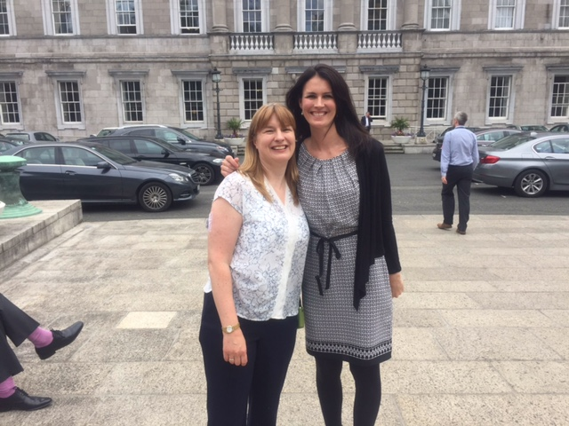 Me & Rebecca outside Leinster House. I'm the short one!