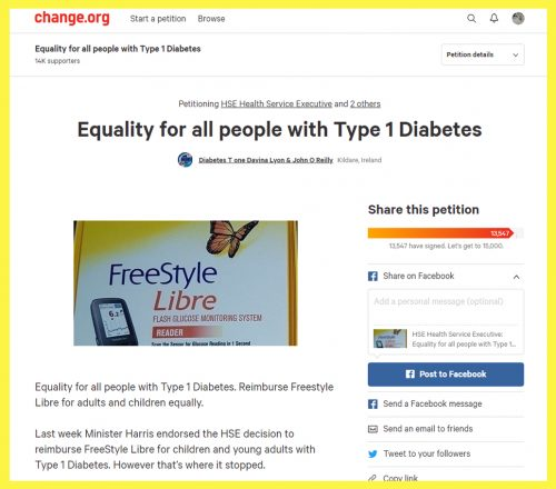 Image of Equality for all people with type 1 diabetes Petition
