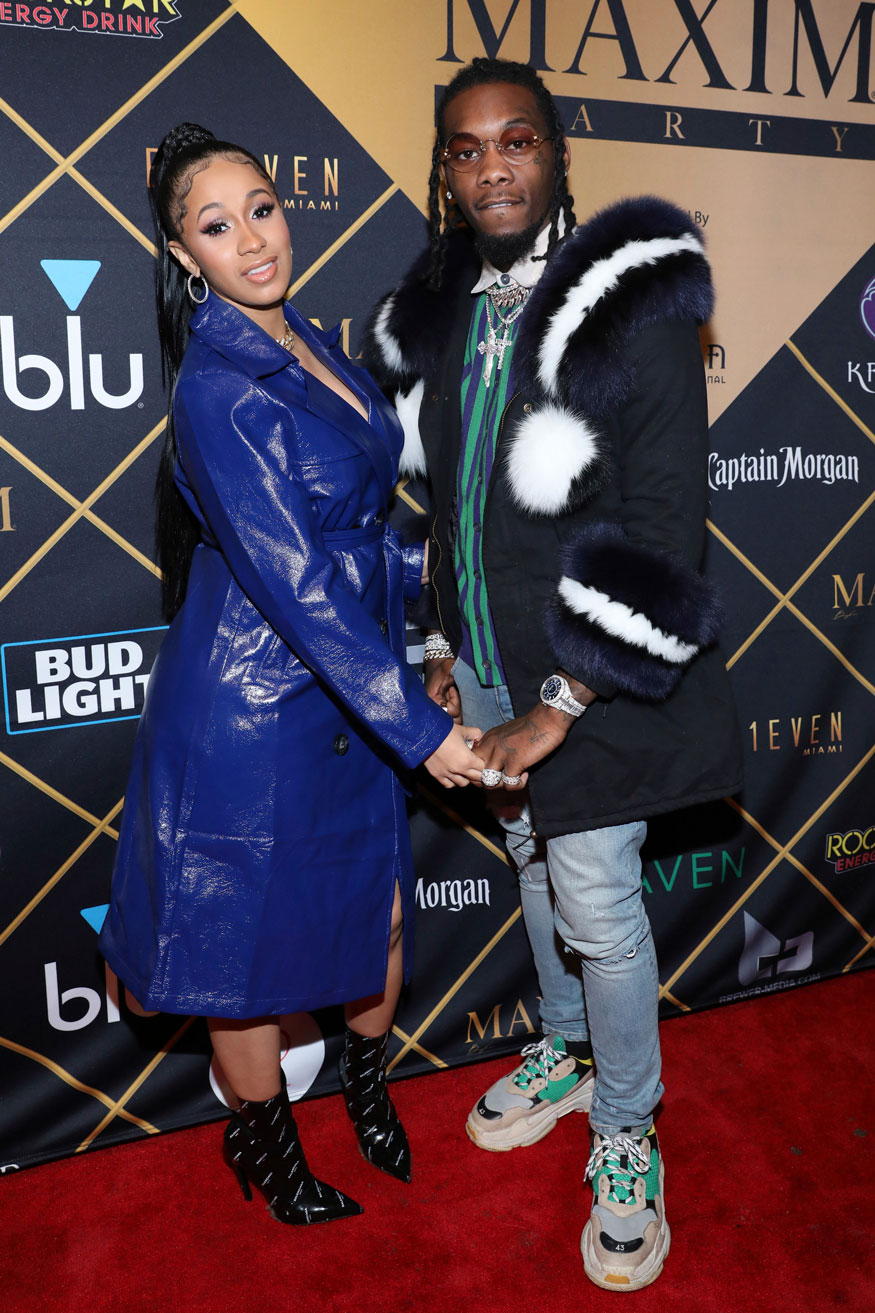 Cardi B and Offset attend the Maxim Super Bowl Party
