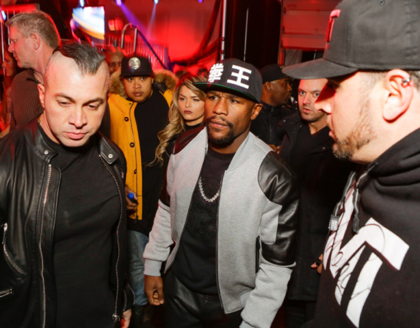 Floyd Mayweather attends the Maxim Super Bowl Party