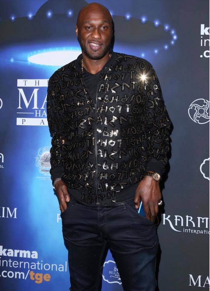 Lamar Odom at the 2017 Maxim Halloween Party