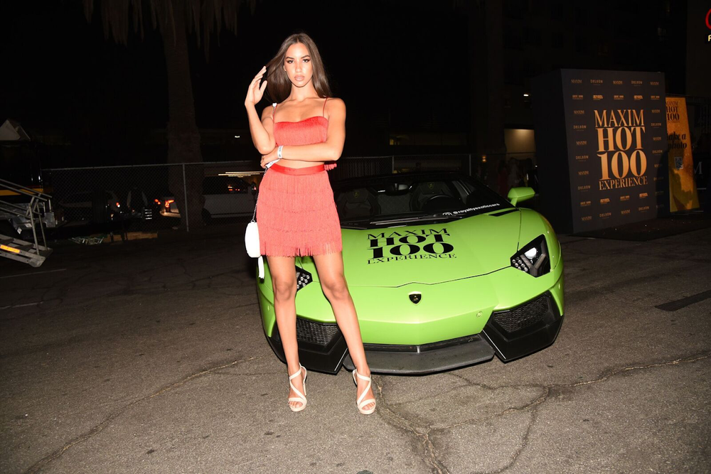 Models and Supercars at the Maxim Hot 100 Experience