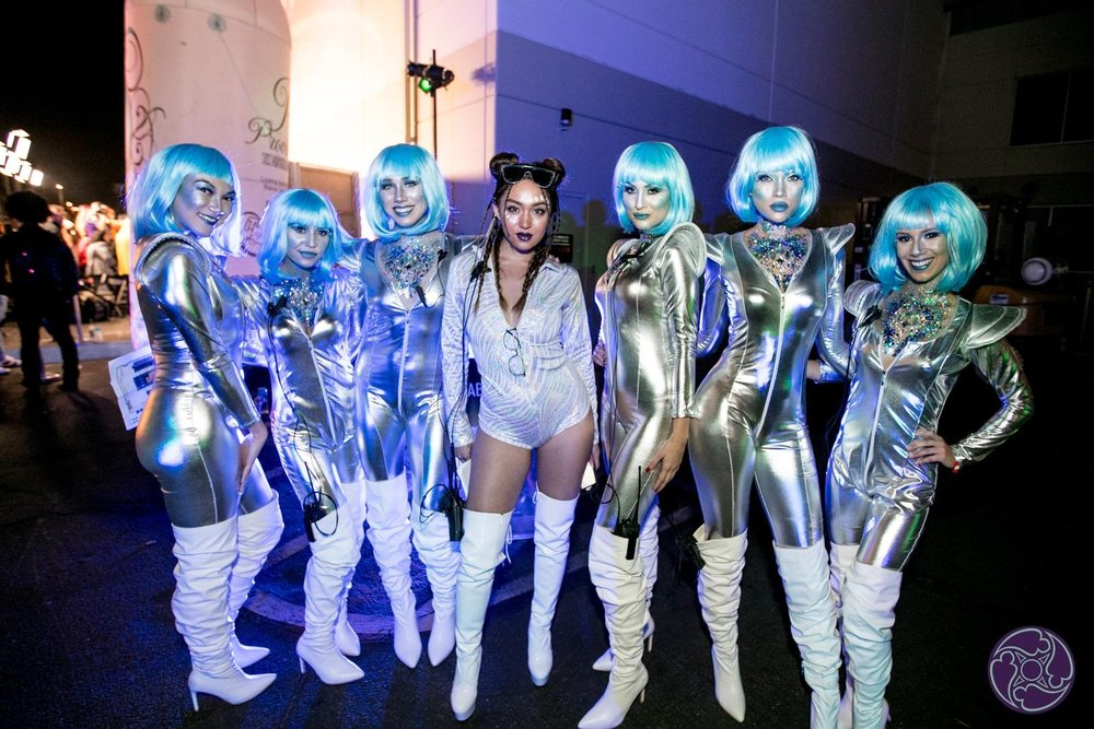 Beautiful space aliens invaded the Maxim Halloween Party in 2017