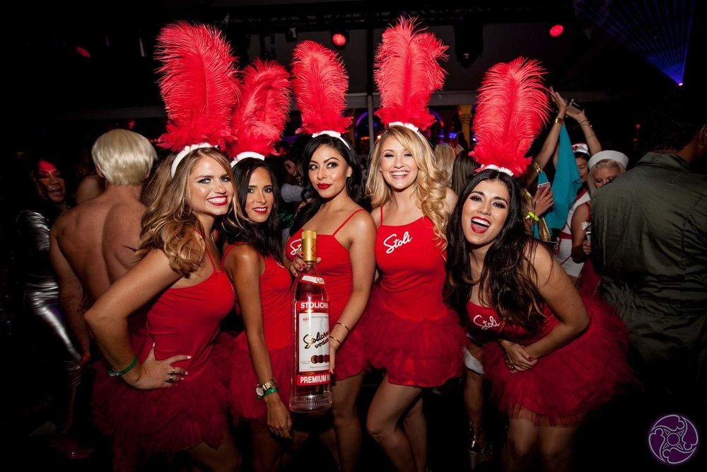 Stoli bottle service girls at the 2016 Maxim Halloween Party