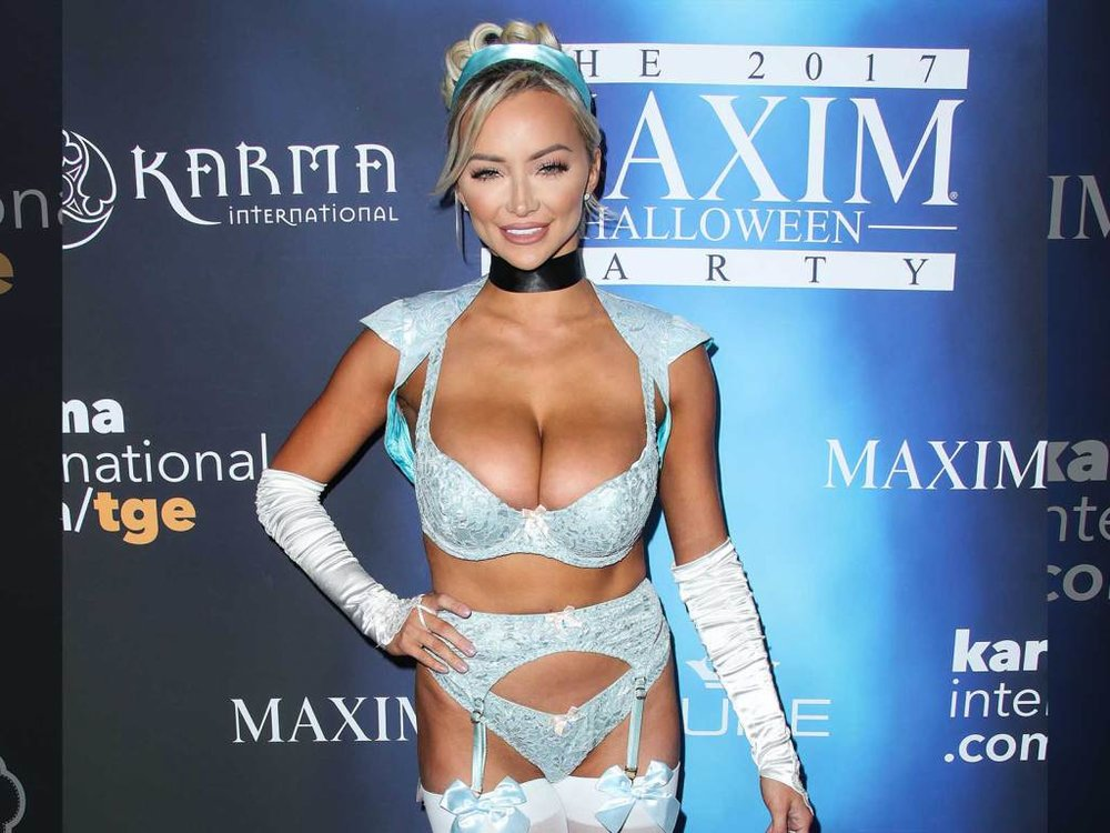 Lindsey Pelas at the Maxim Halloween Party