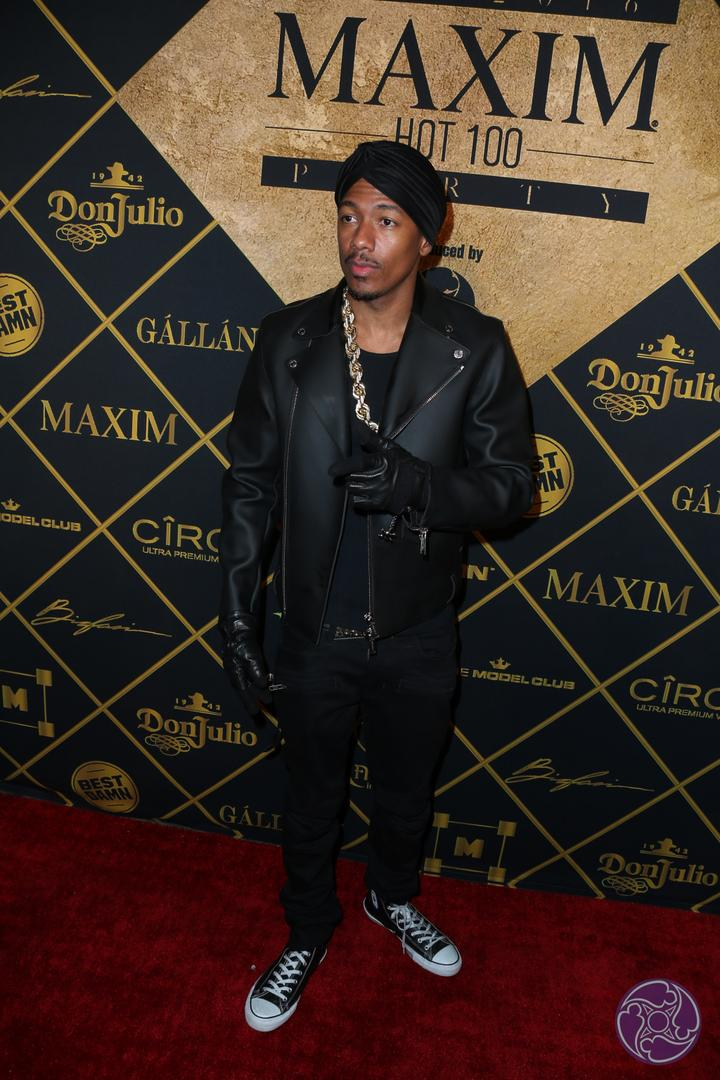 Nick Cannon arrives at the 2016 Maxim Hot 100 Party