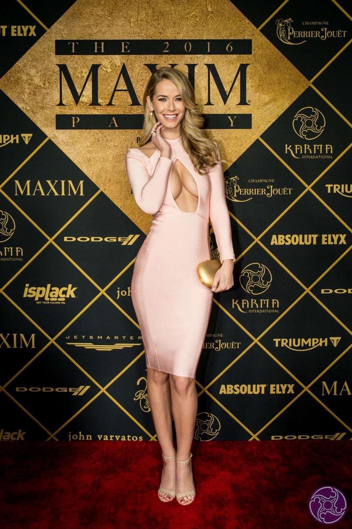 Miss America Olivia Jordan arrives at the 2016 Maxim Super Bowl Party