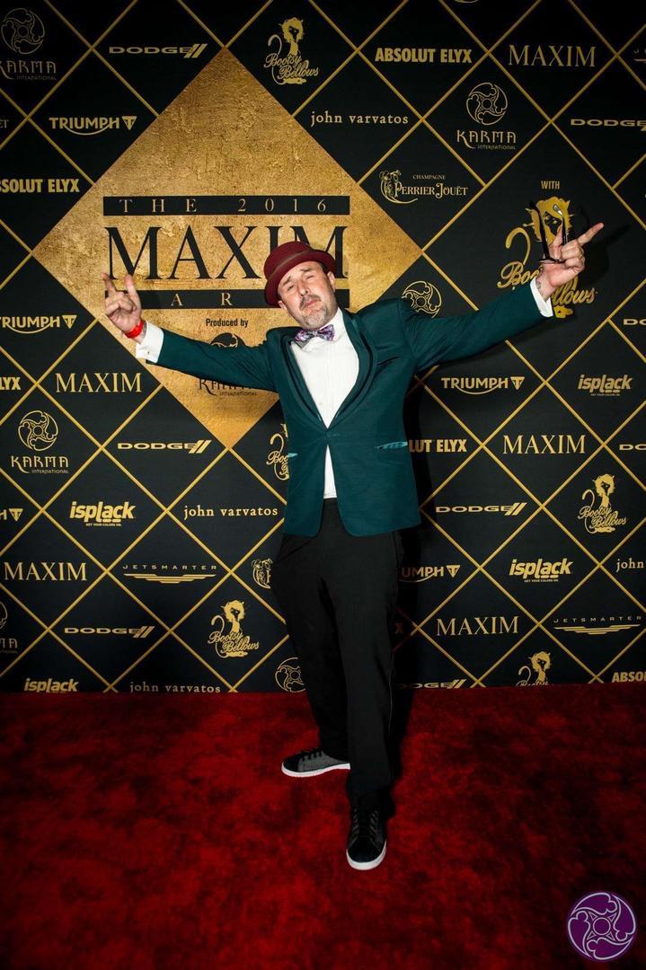David Arquette arrives at the 2016 Maxim Super Bowl Party