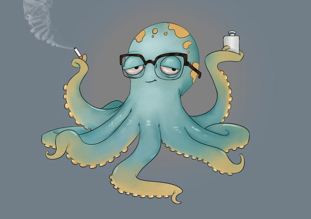 Gene the Nerdy Octopus illustration by  Cameron McCafferty