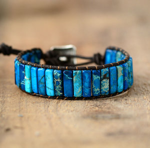 31494dda52f bohemian cuff bracelet jewelry. Benefits of blue sea jasper beads are  protect your energy giving