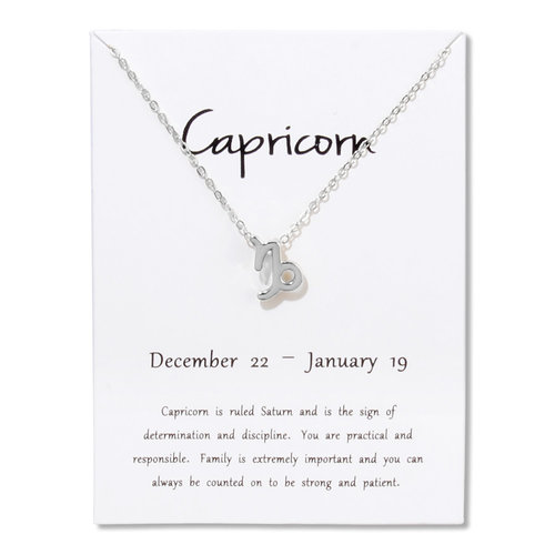 Lucky Zodiac Sign Necklace Capricorn Peaceful Island