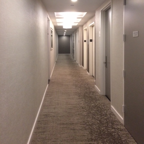 The only thing holding this hallway together is the baseboard.