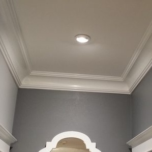 Soft color with great light and a light gloss trim. This room will be perfect for dramatic furniture!