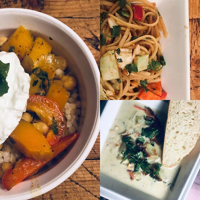 3 perfect healthy winter meals! Have a grocery list with these ready in 30 seconds @listfixx Clam chowder, butternut squash and chickpea curry and sesame@peanut noodles