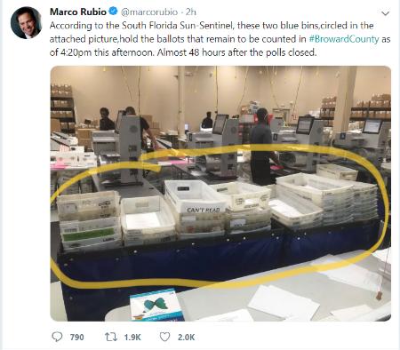 Senator Marco Rubio Via Twitter