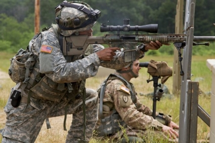 US Army Snipers Practice During a Stress Test. Source:  US Army