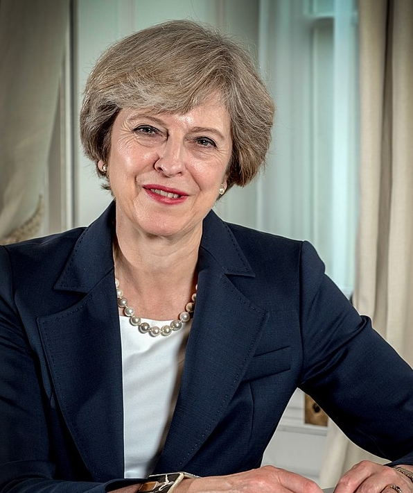 UK Prime Minister Theresa May. Source: Wikipedia Commons.