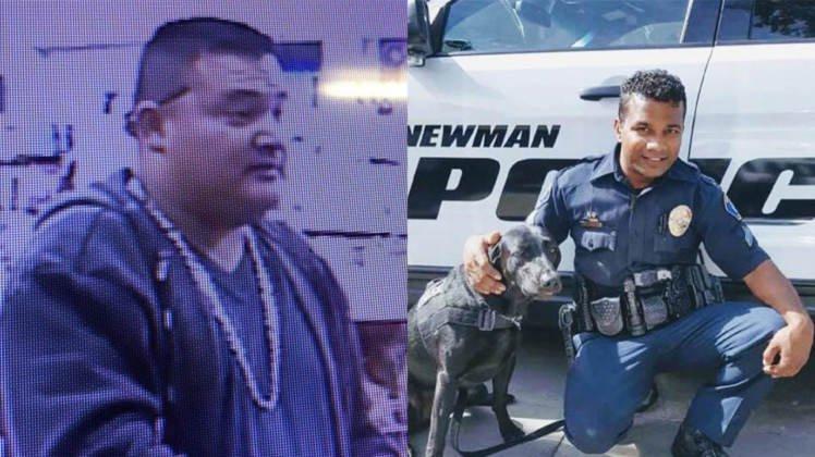 "Suspected illegal alien cop killer (L) – Police Cpl. Ronil ""Ron"" Singh (R)"