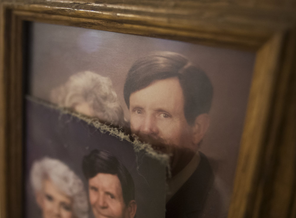 """Marge Stenftenagel's home in Maltersville, Ind. remains decorated with photos of her and her late husband Si. """"They've been there forever, and that's my life,"""" she said. """"I'm not going to take anything down."""""""