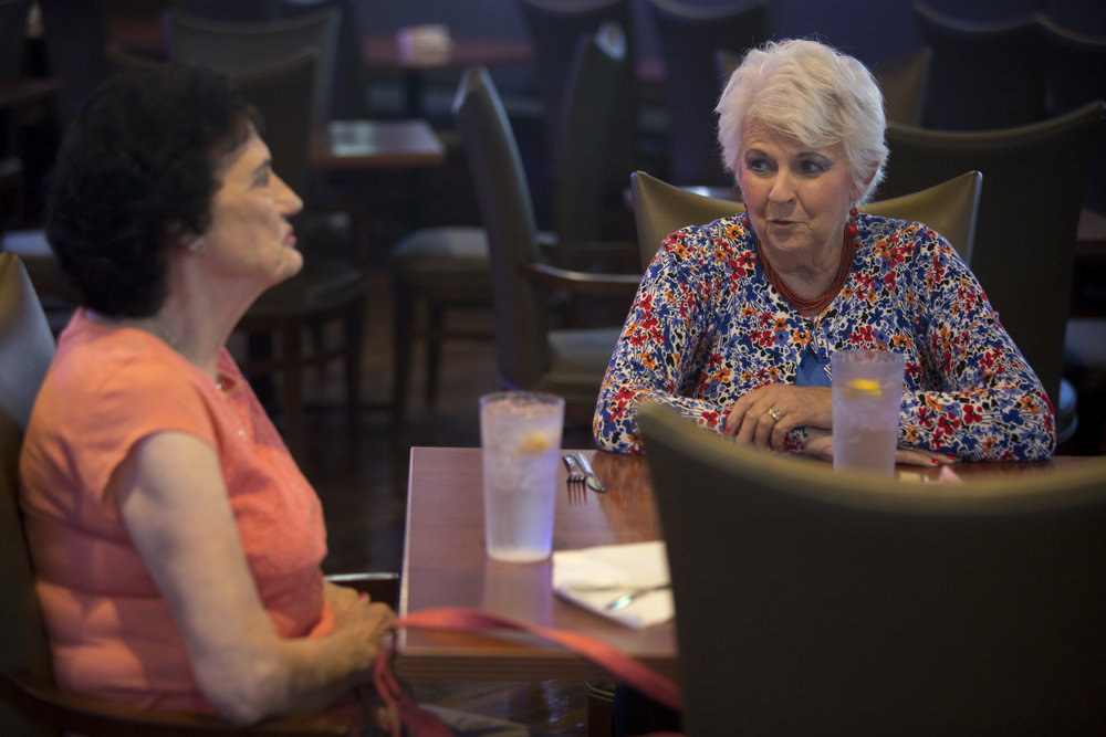 Keeping up with friends is important to Marge. A year ago, she began having near-weekly dinners with Janie Gogel of Jasper, also a widow, as she did at Ohana Hawaiian Bar and Grill in Jasper on June 23, 2018. Janie and Marge both grew up on farms in Ferdinand, and enjoy reminiscing about their upbringings.