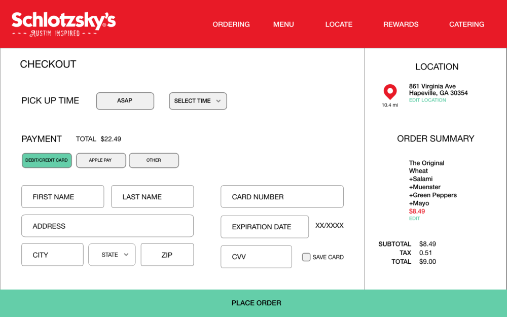Checkout Process - Offers a more clean experience and more payment options