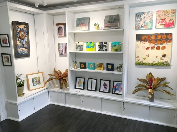 Shelf art with contributing artists for sale