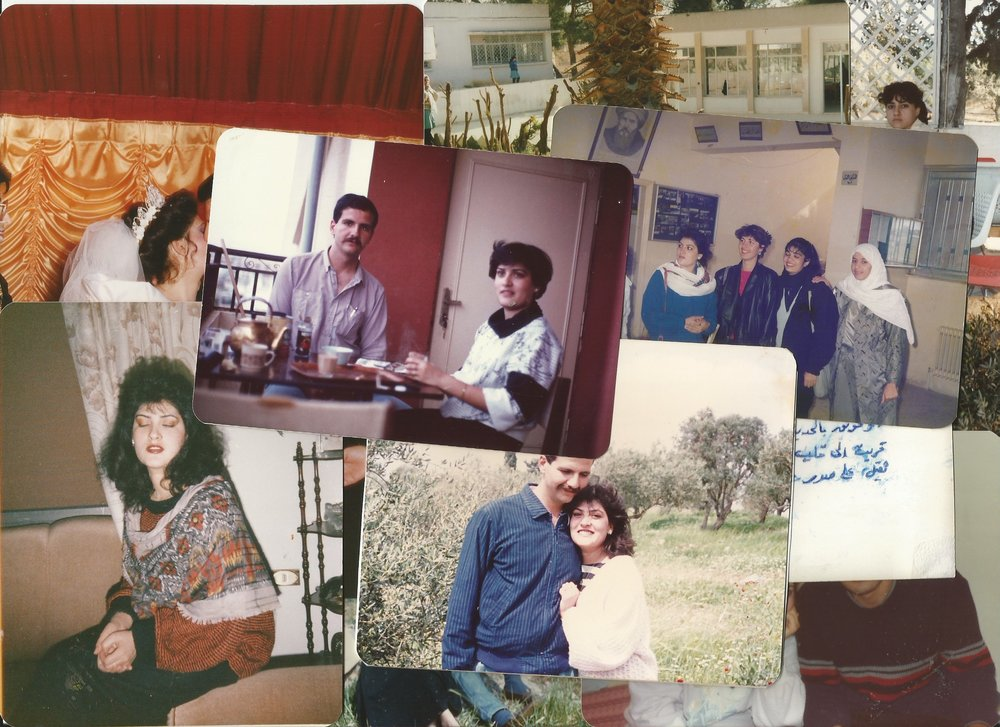A collection of Darah's family photographs and memorabilia