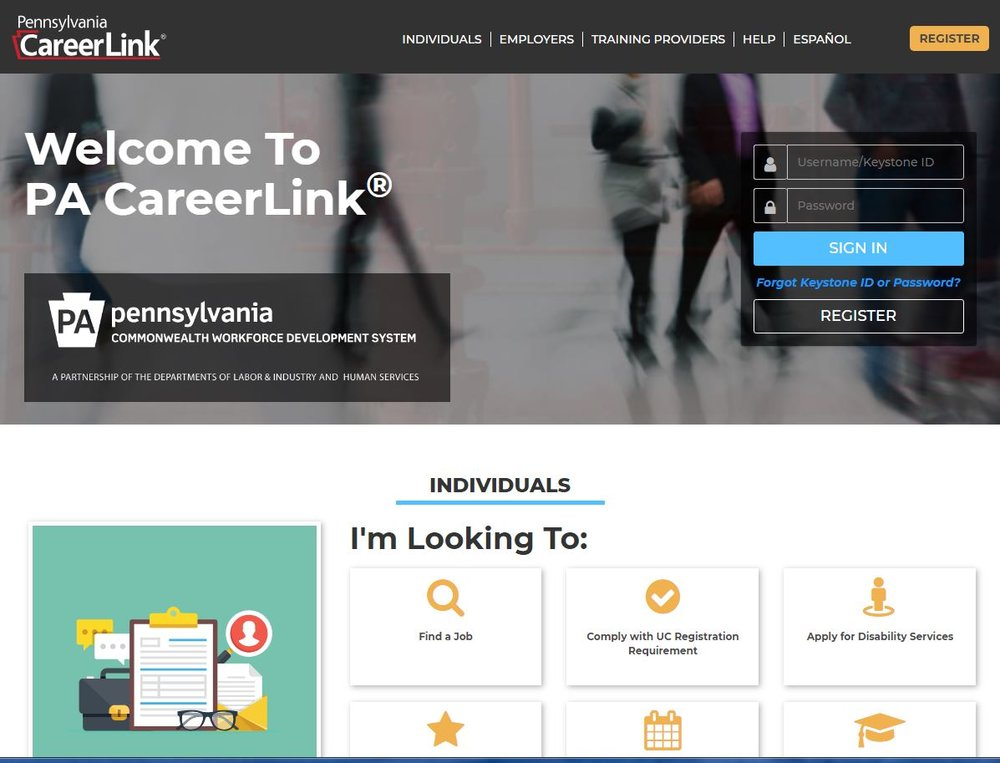 PA CareerLink Website.JPG