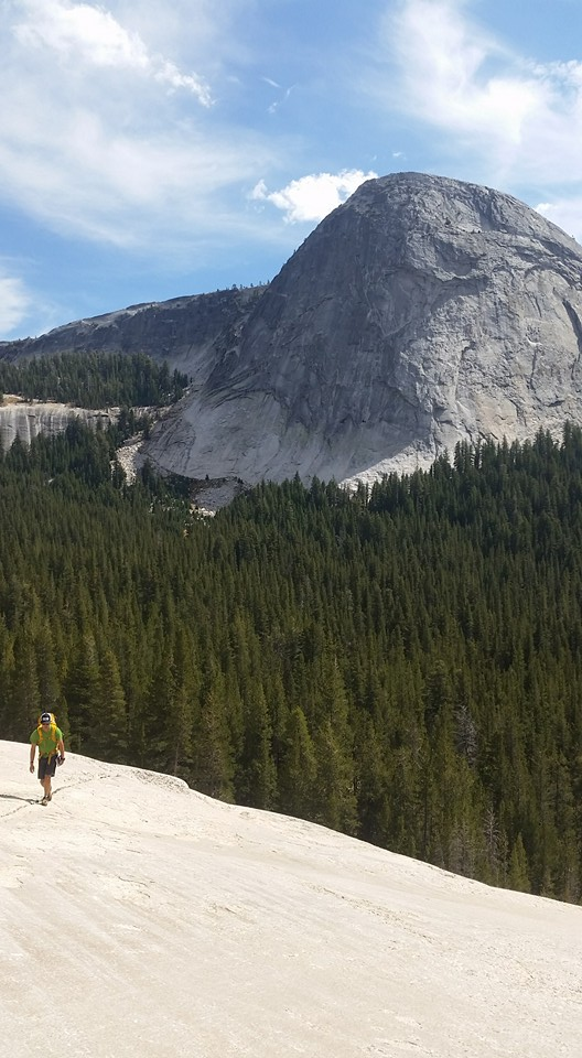 Approaching rock climbs in Yosemite. Photo credit: Troy Wilson