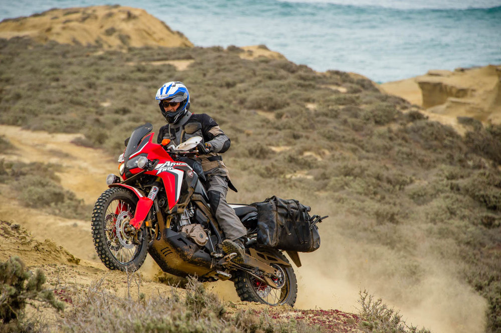 Riding the Pacific coast of Baja. Photo credit: Simon Cudby
