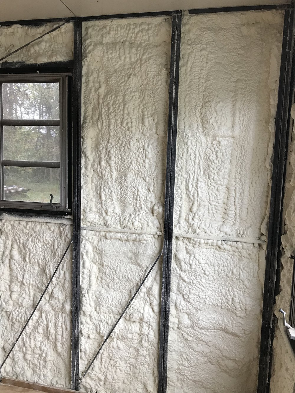 21st century foam insulation will keep this old house warm and dry.