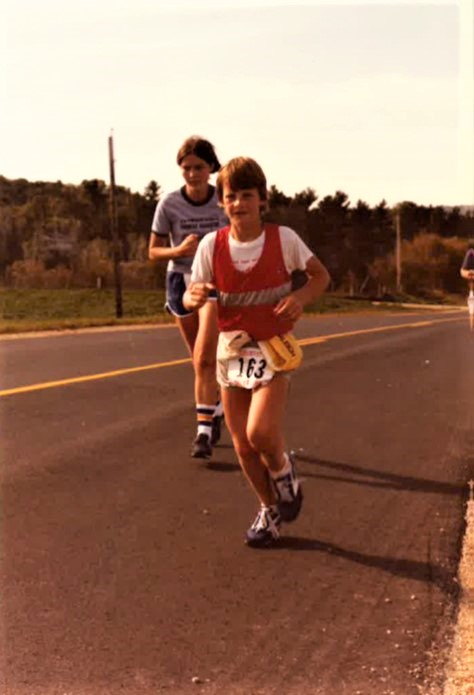 In the beginning - 12 years old at the Oktoberfest Half Marathon, LaCrosse, Wisconsin 1981