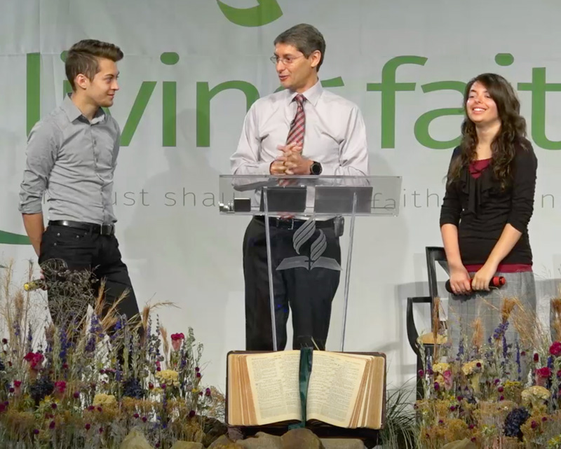 Caleb, Paul, and Hannah speaking together in 2018. Videos are on the Video tab.