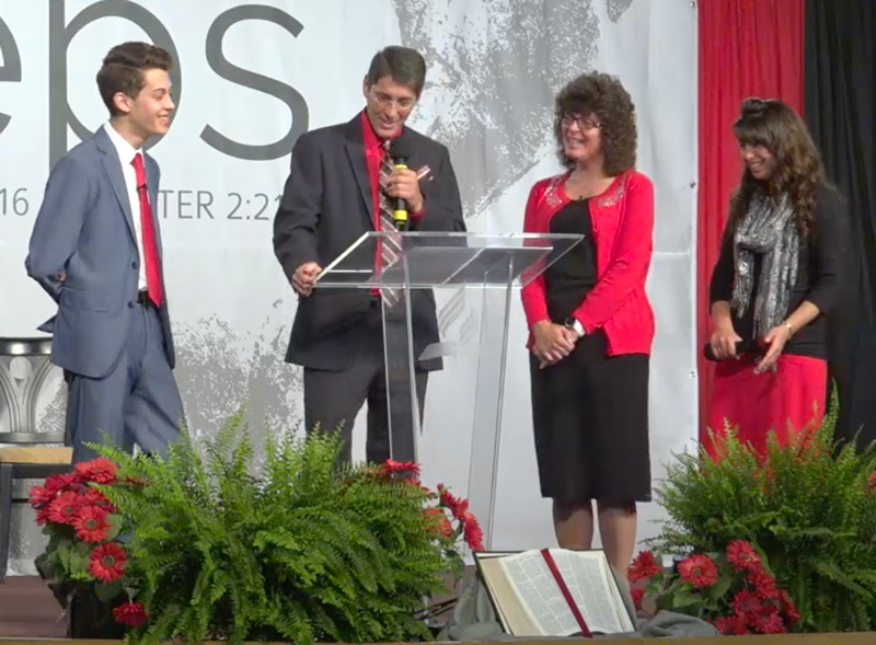 The Rayne family presenting in 2016. Videos are on the Video tab.