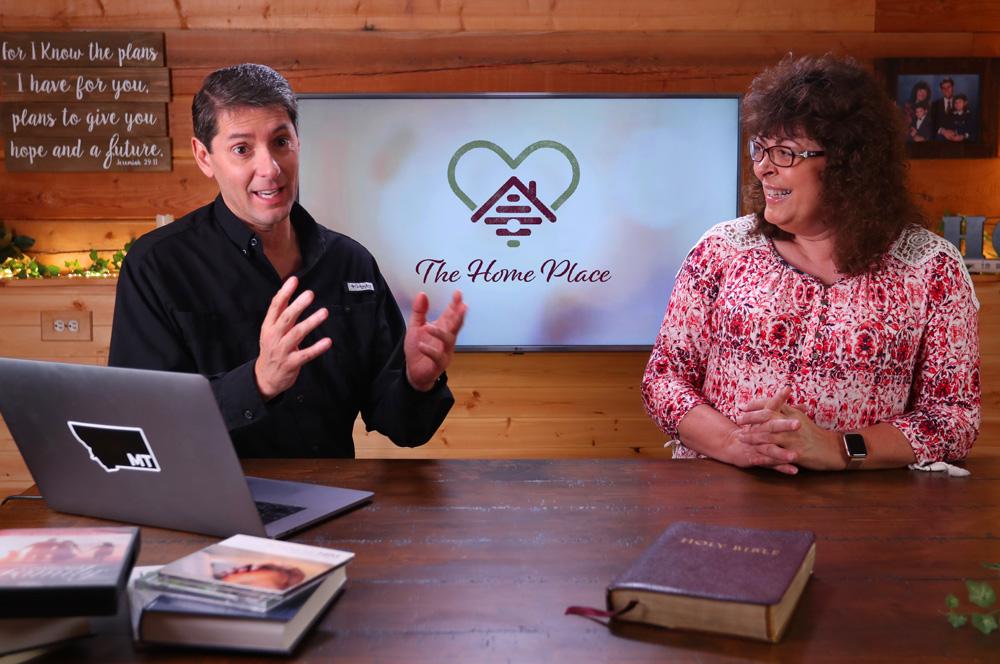 Paul & Carolyn recording in the YouTube studio.